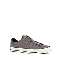 Converse - Dark grey 'Canvas Star' suede lace-up trainers
