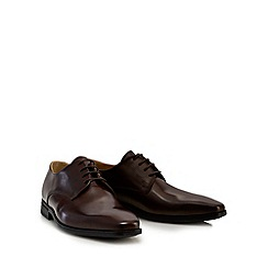 Steptronic - Brown patent 'Hudson' Derby shoes
