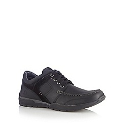 Chatham Marine - Black leather 'Wilson' lace up shoes