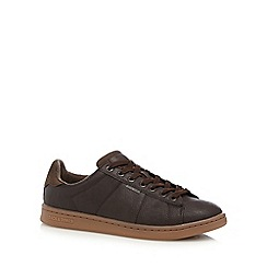 Jack & Jones - Black 'Bane' faux leather trainers
