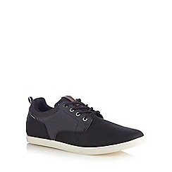 Jack & Jones - Black herringbone lace up shoes