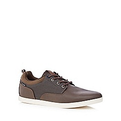 Jack & Jones - Brown 'Vaspa' herringbone trim trainers