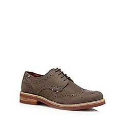 Jack & Jones - Brown lace up brogue shoes