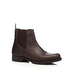 Jack & Jones - Brown leather Chelsea boots
