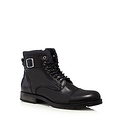 Jack & Jones - Black leather boots