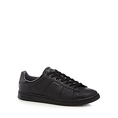 Jack & Jones - Black 'Bane' faux leather trainers