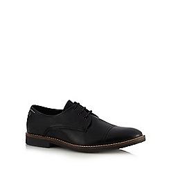Jack & Jones - Black leather 'Billy' Derby shoes