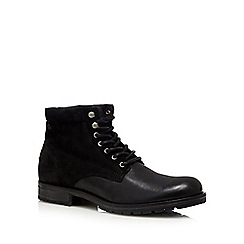 Jack & Jones - Black suede lace up boots