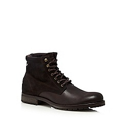 Jack & Jones - Brown suede lace up boots