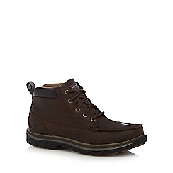 Skechers - Brown 'Segment Barillo' stitch detail boots