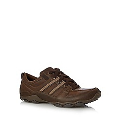 Skechers - Brown 'Diameter Selent' panel detail trainers