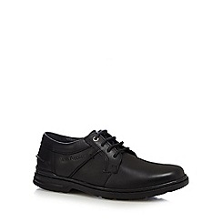 Hush Puppies - Black leather 'Barnet' lace up shoes