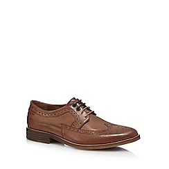 Hush Puppies - Tan leather 'Granger Parkview' brogues