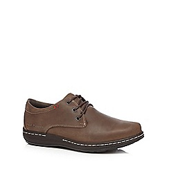 Hush Puppies - Brown leather 'Villy Victory' lace up shoes