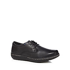 Hush Puppies - Black leather 'Villy Victory' lace up shoes