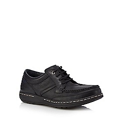 Hush Puppies - Black leather 'Vines Victory' lace up shoes
