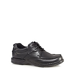 Hush Puppies - Black leather 'Randall' lace up shoes