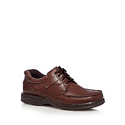 Hush Puppies - Brown leather 'Randall' lace up shoes