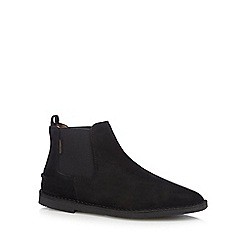Hush Puppies - Black leather 'Selby' Chelsea boots