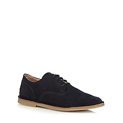 Hush Puppies - Navy 'Grant' Derby shoes