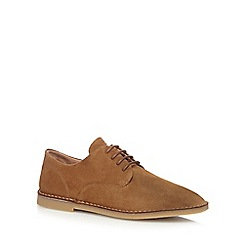 Hush Puppies - Tan leather 'Grant' Derby shoes