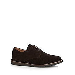 Hush Puppies - Dark brown 'Irvine' suede lace up shoes