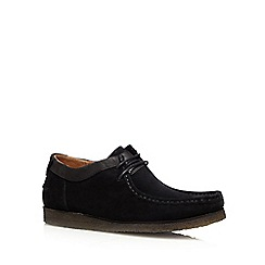 Hush Puppies - Black suede 'Davenport' lace up shoes