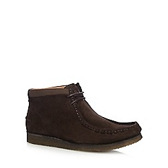 Hush Puppies - Brown suede 'Davenport' boots