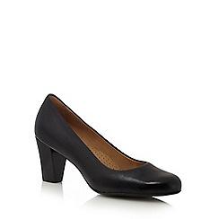 Hush Puppies - Black 'Alegria' mid court shoes