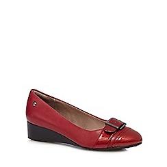 Hush Puppies - Dark red 'Ellinor Admire' wedge court shoes