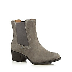 Hush Puppies - Grey 'Landa Nellie' mid Chelsea boots