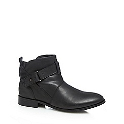 Hush Puppies - Black 'Vita' buckled low ankle boots