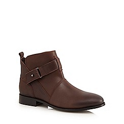 Hush Puppies - Brown 'Vita' buckled low ankle boots