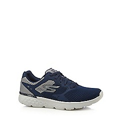 Skechers - Navy canvas '400' lace up trainers