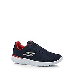 Skechers - Navy '400' lace up trainers