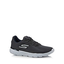 Skechers - Grey canvas '400' lace up trainers