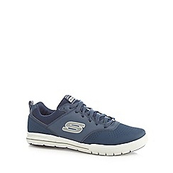 Skechers - Navy 'Arcade' lace up trainers