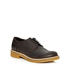 Base London - Brown leather 'Lincoln' Derby shoes