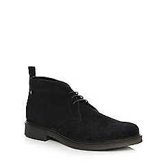 Base London - Navy 'Rufus' desert boots