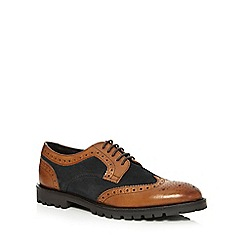 Base London - Brown 'Conflict' leather suede brogues
