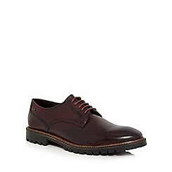 Base London - Dark red 'Barrage' Derby shoes