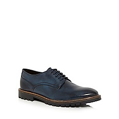 Base London - Blue leather 'Barrage' Derby shoes