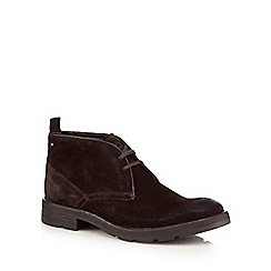 Base London - Brown 'Archer' suede chukka boots