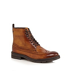 Base London - Tan 'Valiant' brogue boots