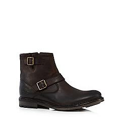 Base London - Dark brown 'Zinc' biker boots