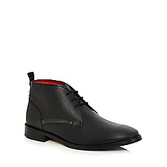 Base London - Black leather lace up brogues