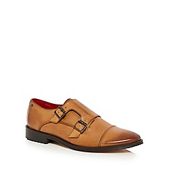 Base London - Tan 'Vine' monk shoes