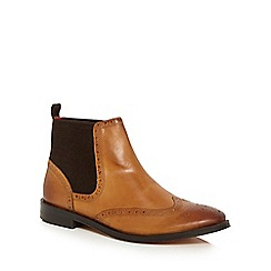 Base London - Tan 'Compton' Chelsea boots