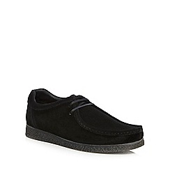 Base London - Black suede 'XXI Genesis' lace up shoes