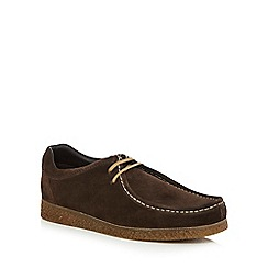 Base London - Brown suede 'XXI Genesis' lace up shoes